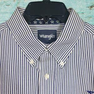 Mens Wrangler Pin Stripe Shirt Spirit Of A Patriot
